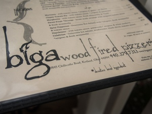 Biga menu